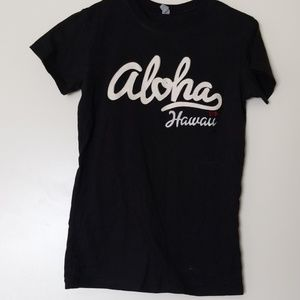 Women's tshirt (aloha Hawaii) on front size medium